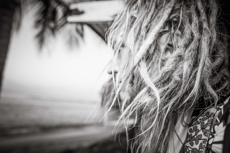 close shot of model Nik's hair